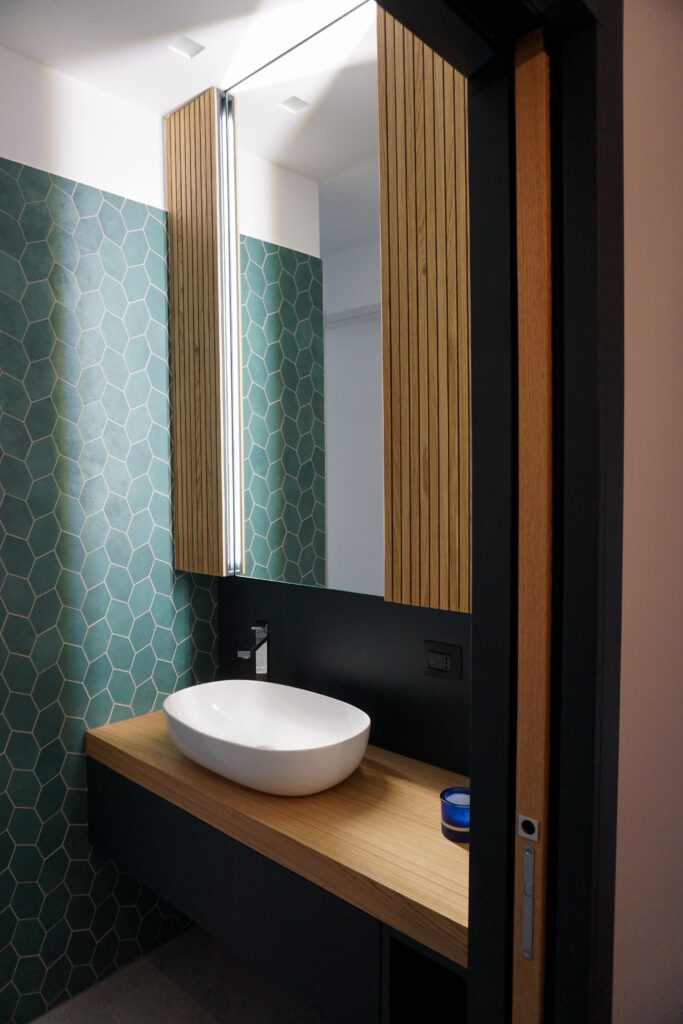 Baño de diseño SOHO hecho en Italia por Disegnopiu
